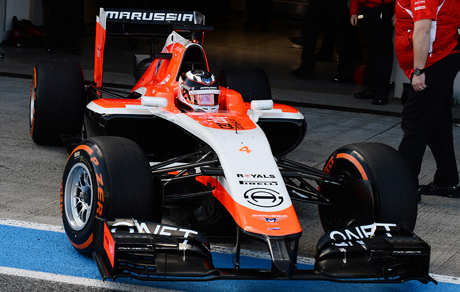 Первый тест Marussia MR-03