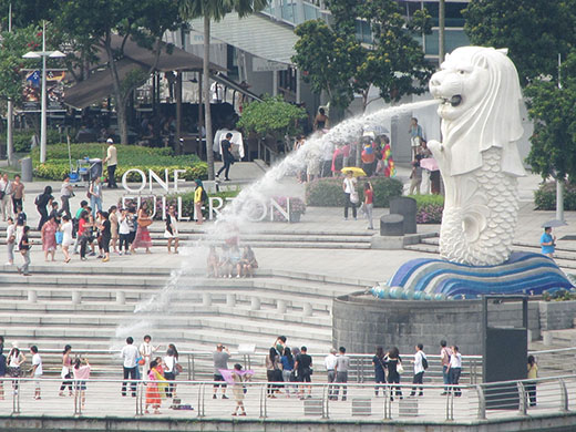 Сингапур. Символ города - морской лев